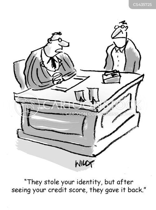 credit record cartoon