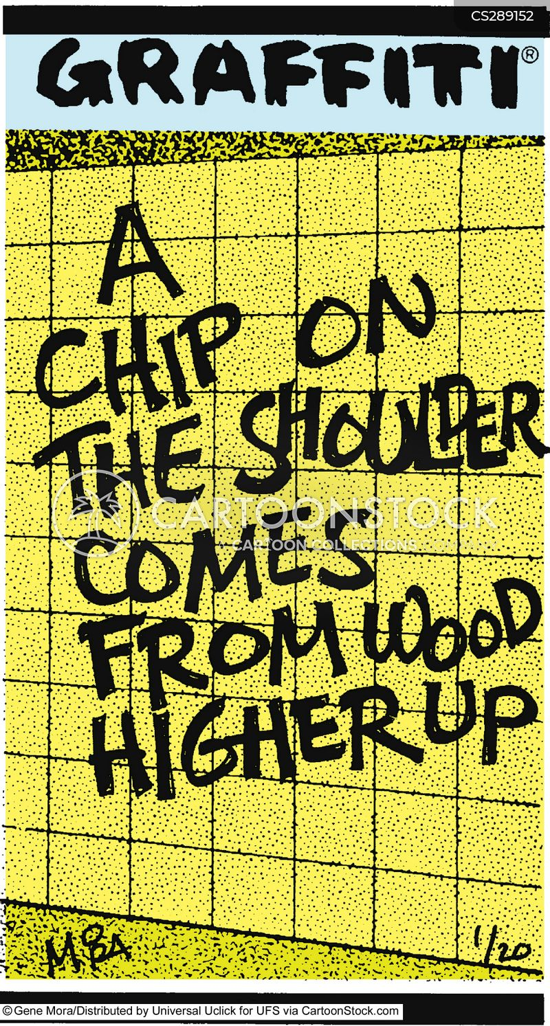 chip on the shoulder cartoon