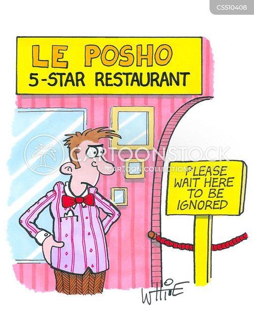 aloof waiters cartoon