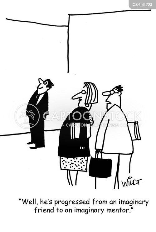 business mentor cartoon