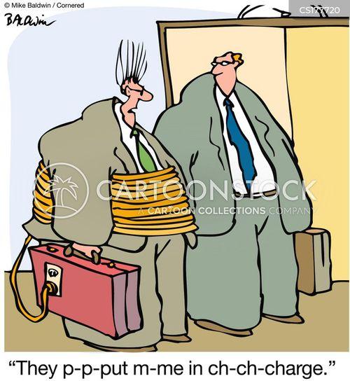 taking charge cartoon