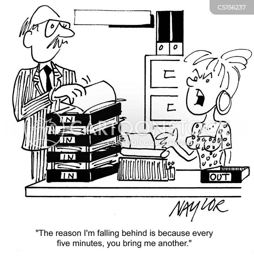 desk work cartoon