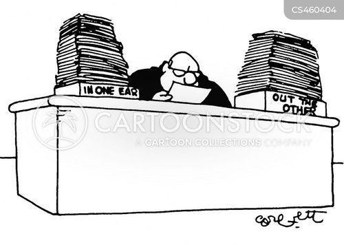 desk trays cartoon