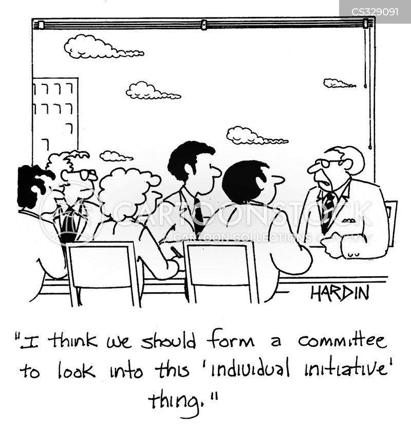 Executive Cartoon: Initiatives Cartoons And Comics