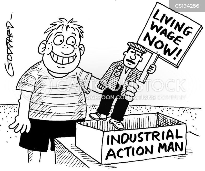 industrial action cartoon