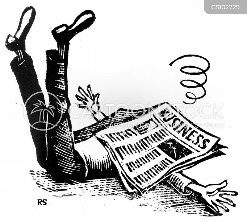 market reports cartoon