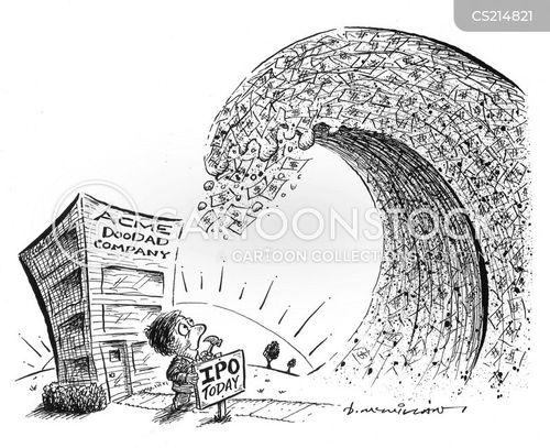 initial public offerings cartoon