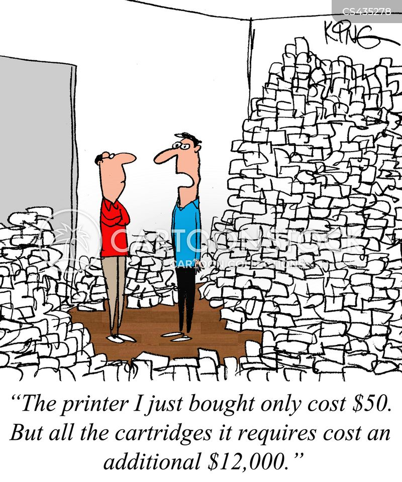 printer ink cartoon