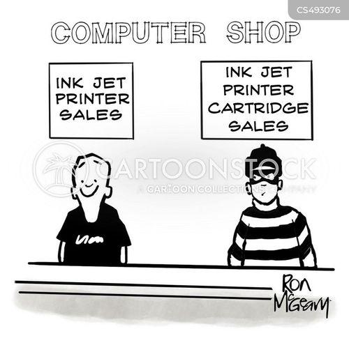 ink cartridges cartoon