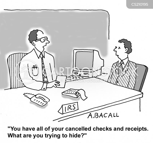 canceled checks cartoon