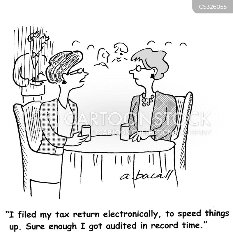 electronic tax return cartoon