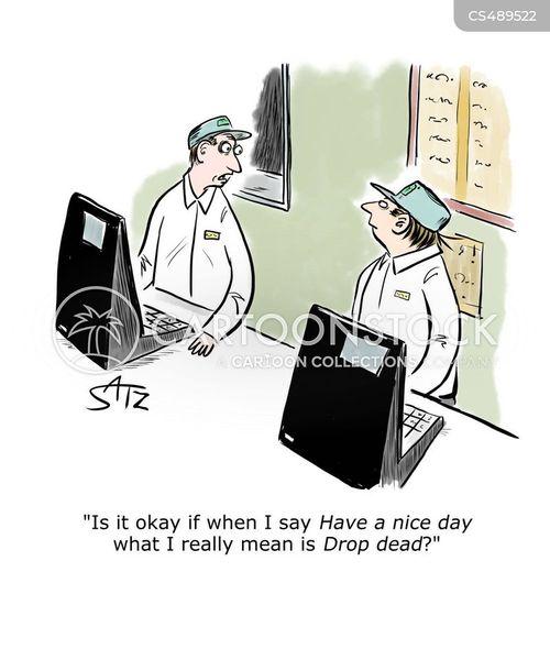 drop dead cartoon