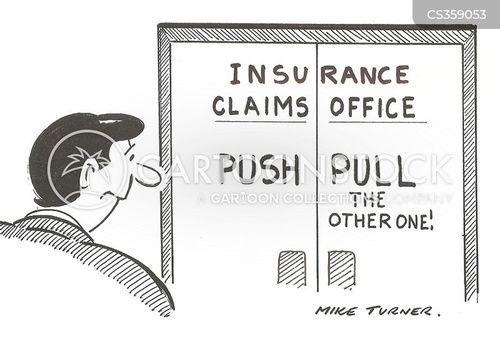 insurance scams cartoon