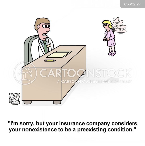 preexisting conditions cartoon