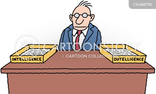 intelligence agents cartoon