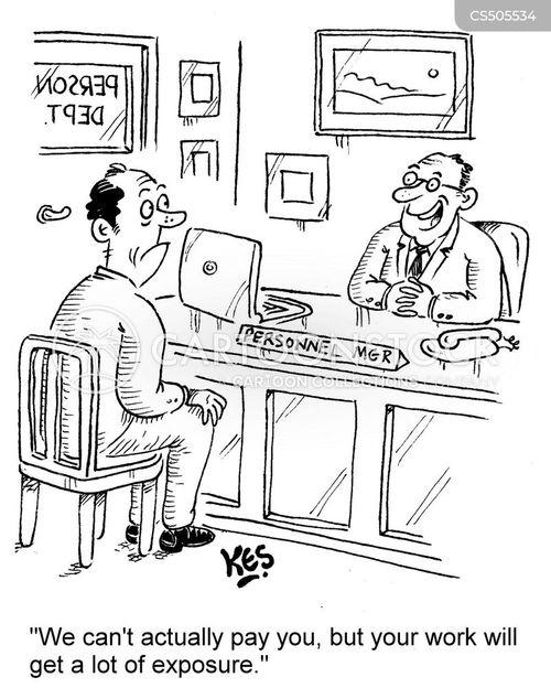 unpaid work cartoon