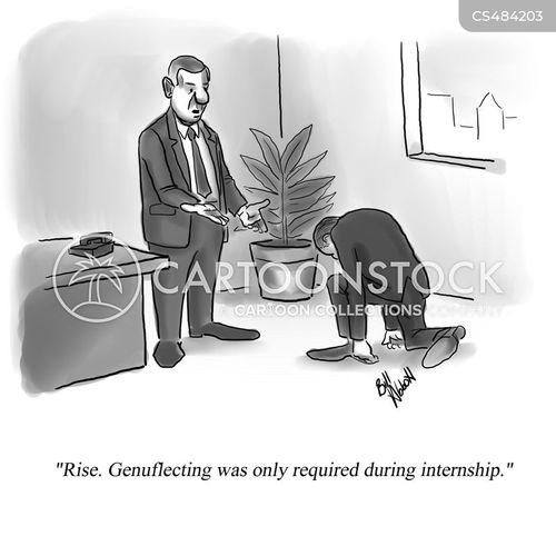 genuflections cartoon