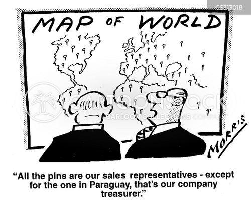sales representative cartoon