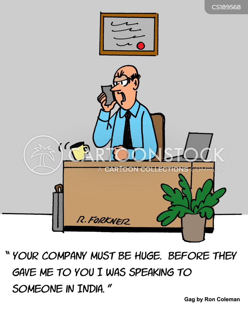 global companies cartoon