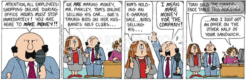 online auction cartoon