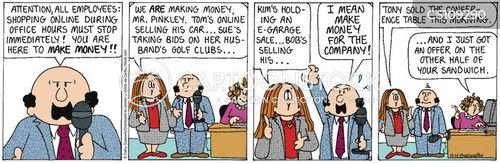 online shoppers cartoon