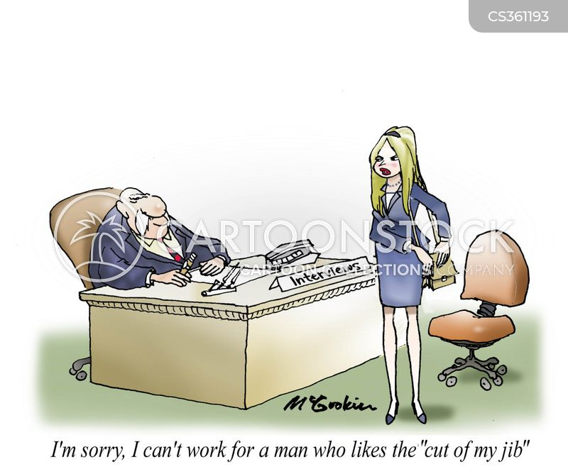 female employee cartoon