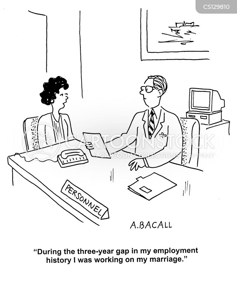 employment gap cartoon