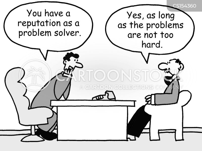 difficult problems cartoon