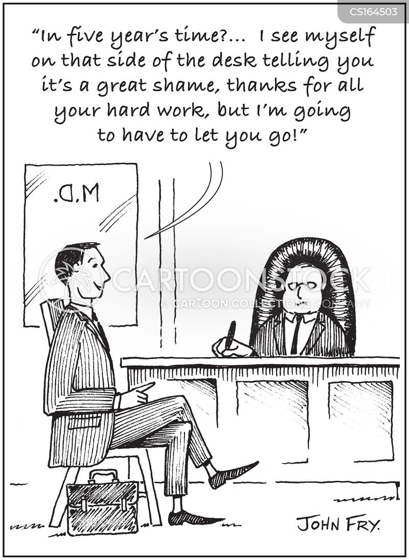 interviewer cartoon