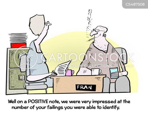 positive note cartoon