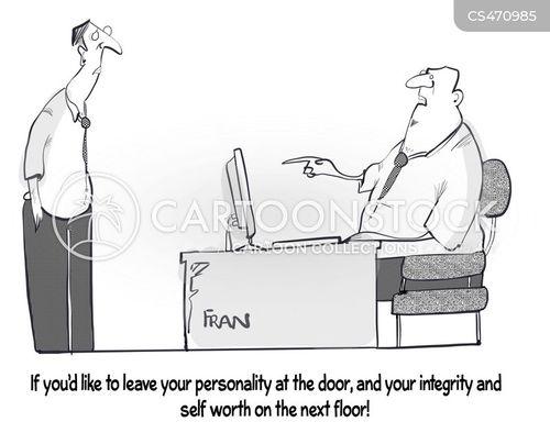 corporate drone cartoon