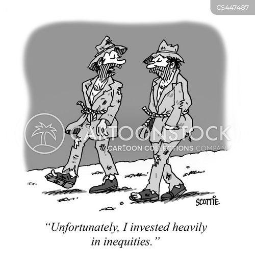 stock portfolios cartoon