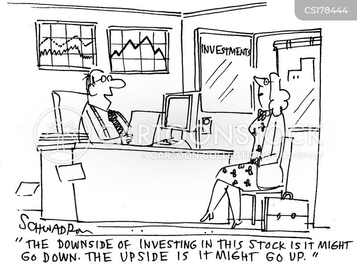 stock portfolio cartoon