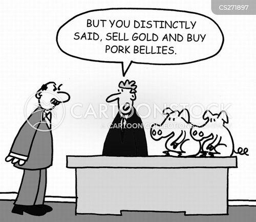 pork bellies cartoon