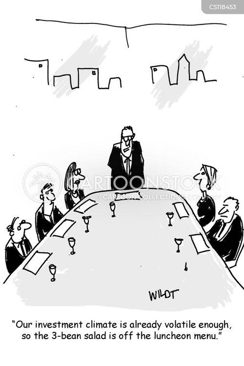 volatile markets cartoon