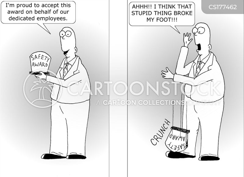workplace accidents cartoon