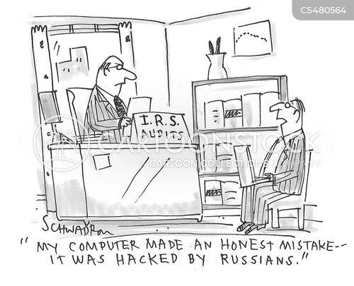 russian hacker cartoon