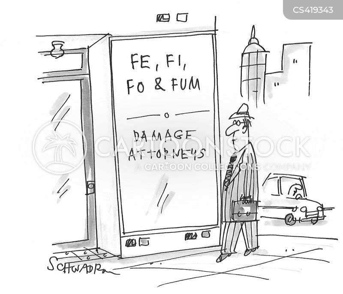 damage attorney cartoon