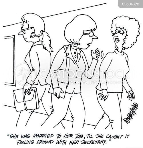 professional women cartoon