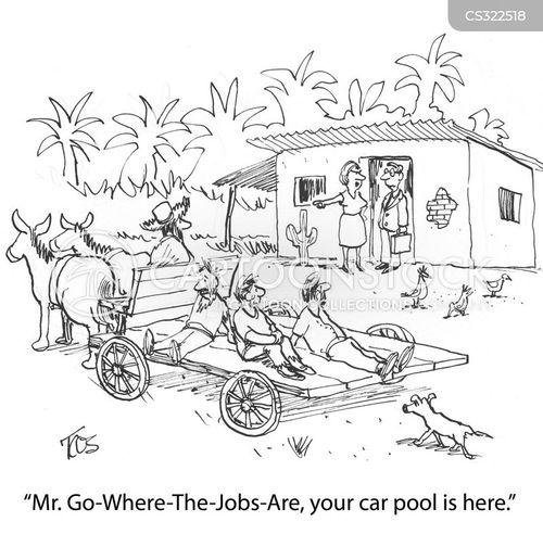 horse and cart cartoon