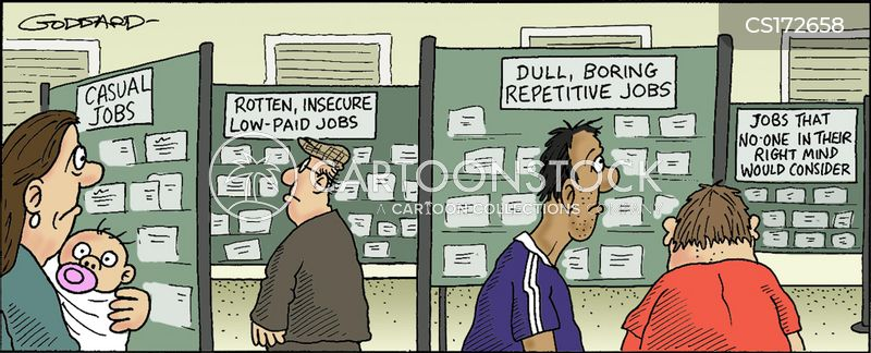 casual job cartoon