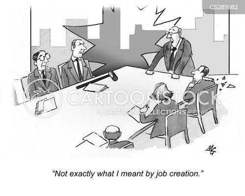 job creations cartoon