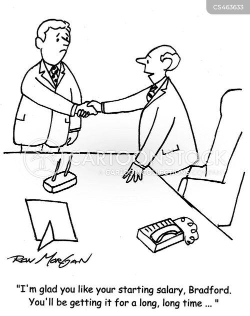 starting salaries cartoon