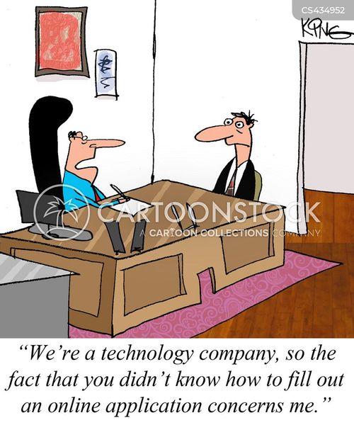 online application cartoon