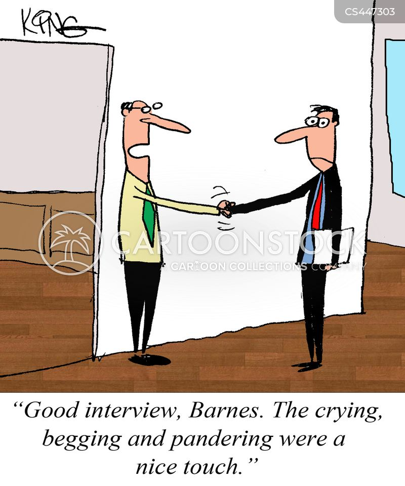 searching for a job cartoon