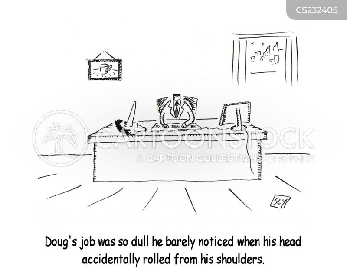 dull job cartoon
