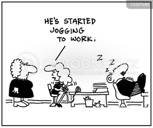 jogged cartoon