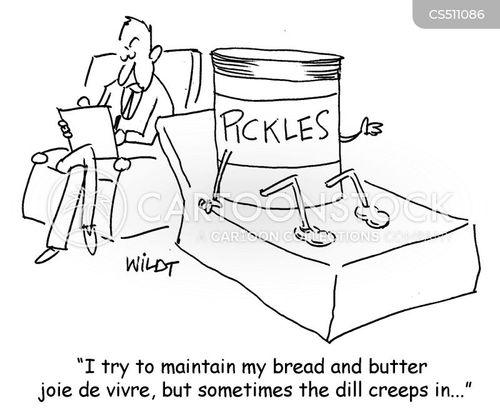 dill pickles cartoon