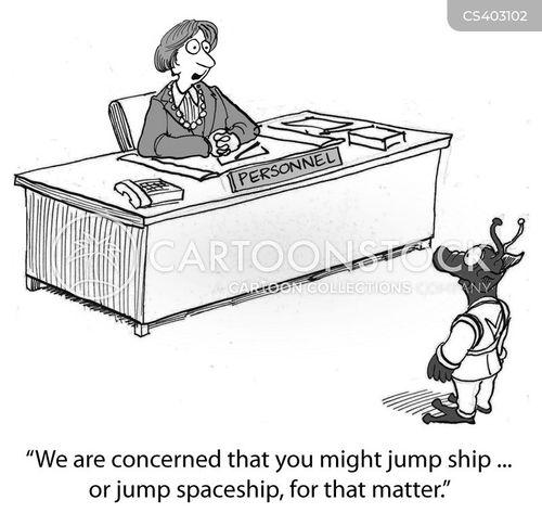 jump ship cartoon