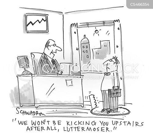 kick upstairs cartoon